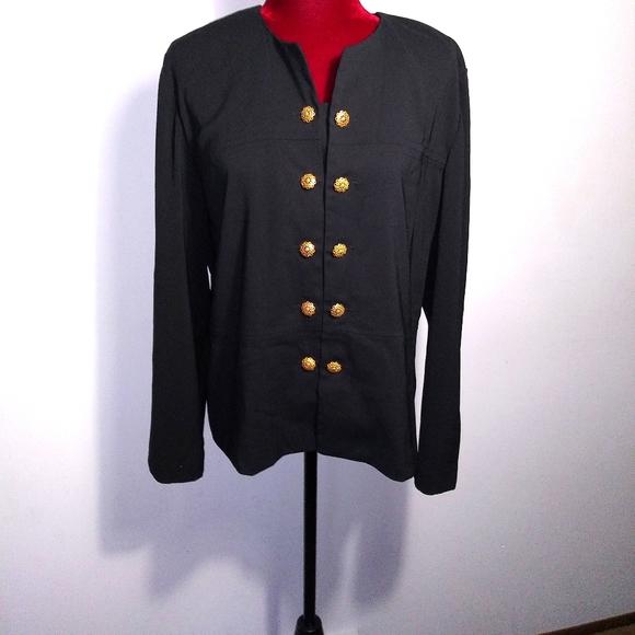 Leslie Fay Black Jacket Sz 14